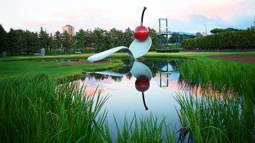 Moving to Minneapolis: Spoonbridge and Cherry sculpture by Claes Oldenburg and Coosje van Bruggen